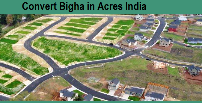 How many Bigha in 1 Acre in Assam, and How other state