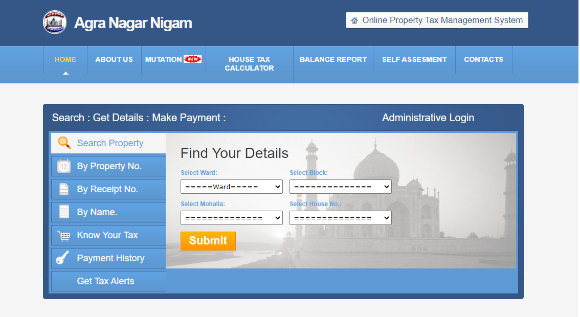 Agra Nagar Nigam Property Tax, Online Guide, Management System