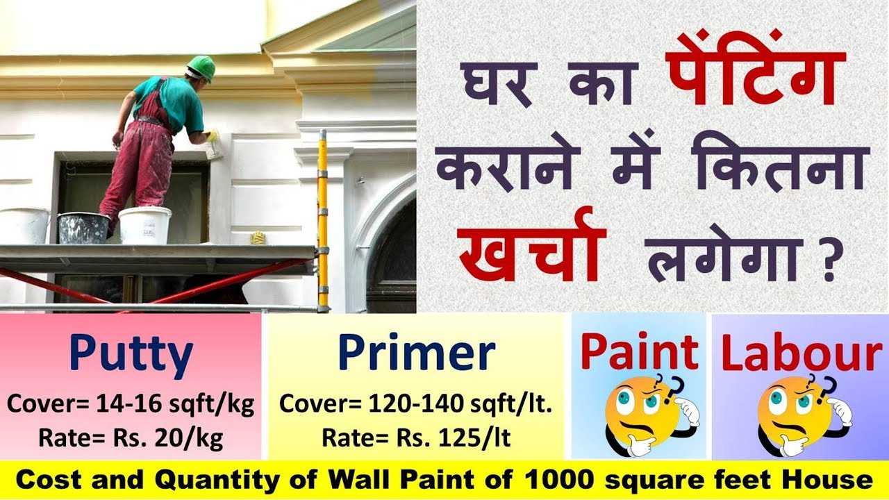 Labour Cost for Painting Wall House in India
