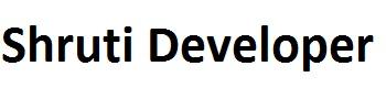 Shruti Developer
