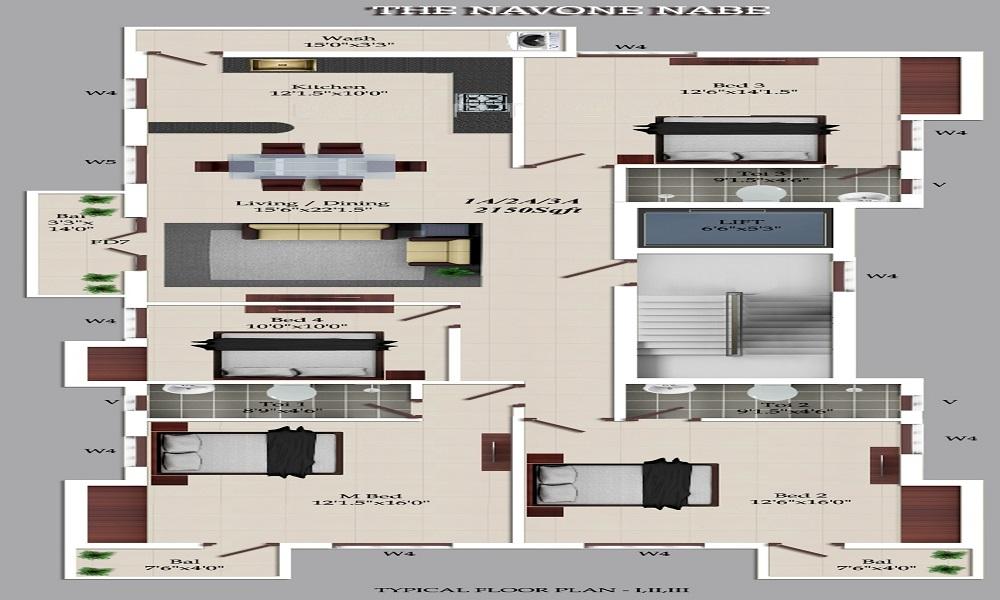 BSR Kilpauk Floor Plan
