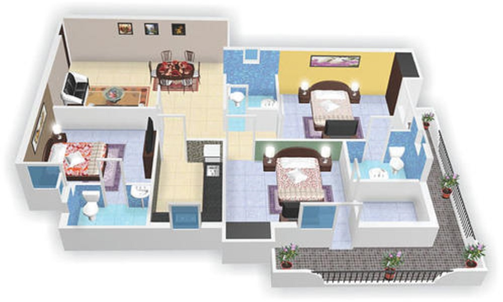 DLF Commanders Court Floor Plan