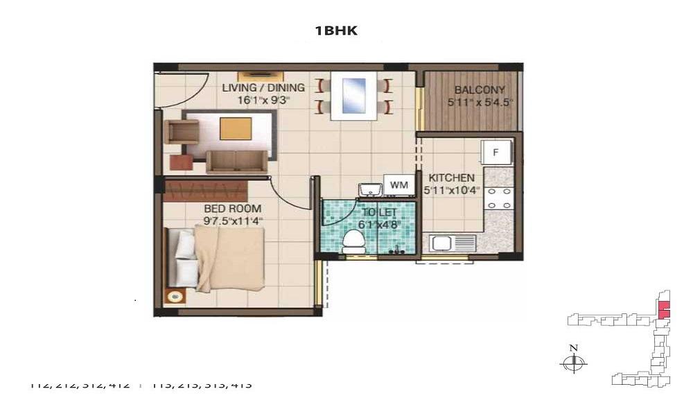 Crescent Apartments Floor Plan