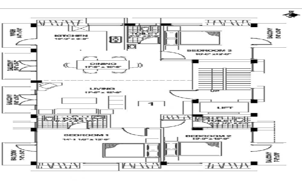 India Builders The Gabbro Garden Floor Plan