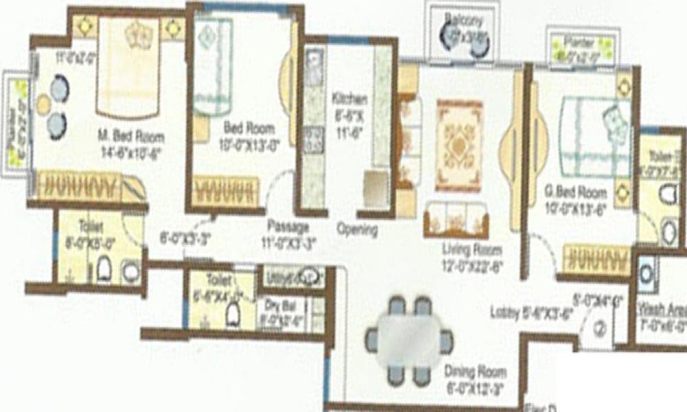 Ashar Monarch Floor Plan