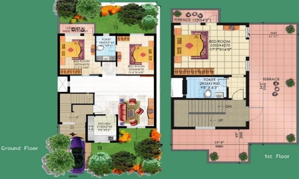 Sahara City Homes Villa Floor Plan