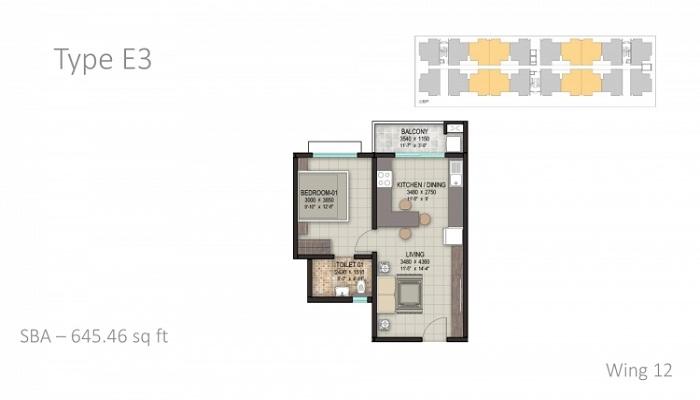 Sobha Aspirational Homes Floor Plan