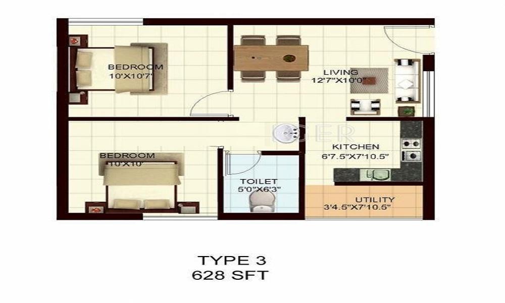 MARG Properties Utsav Floor Plan