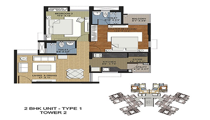 Adani Elysium Towers Floor Plan