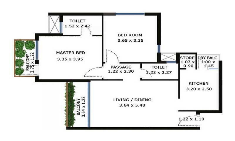 Godrej Garden City Floor Plan