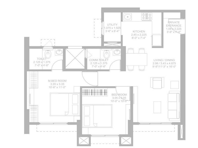 Godrej Garden City Floor Plan