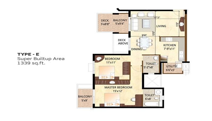 Purvankara Purva Scarlet Terraces Floor Plan
