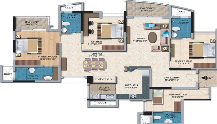 Salarpuria Sattva Casa Irene Floor Plan