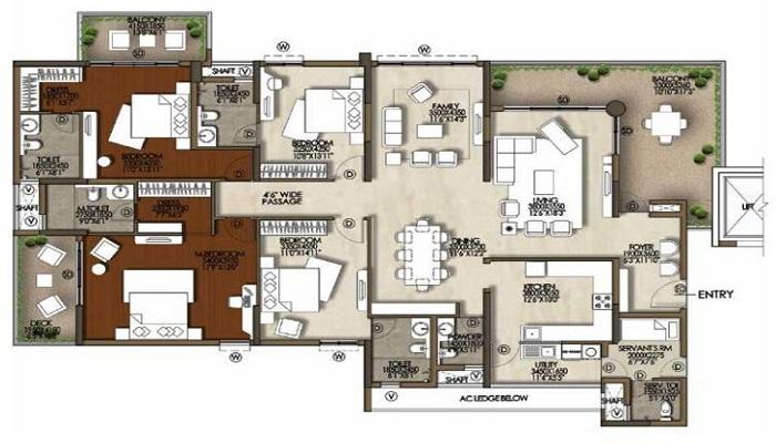 Brigade Cosmopolis Floor Plan