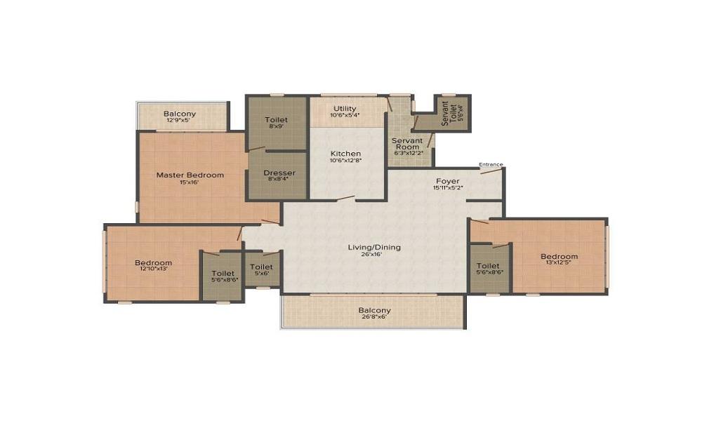Prestige Deja Vu Floor Plan
