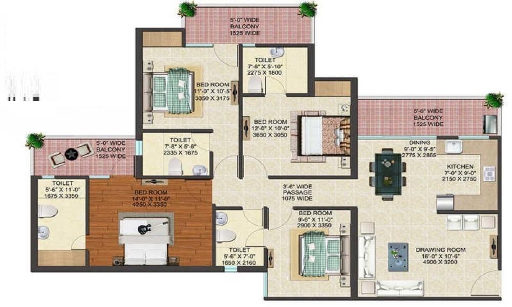 Sobha Turquoise Floor Plan
