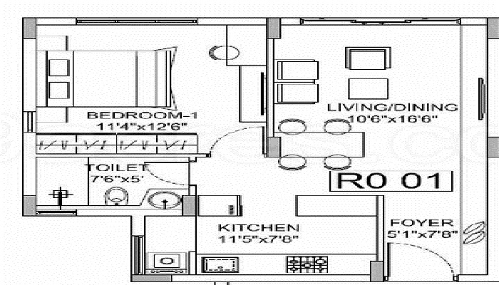 Godrej E-City Floor Plan