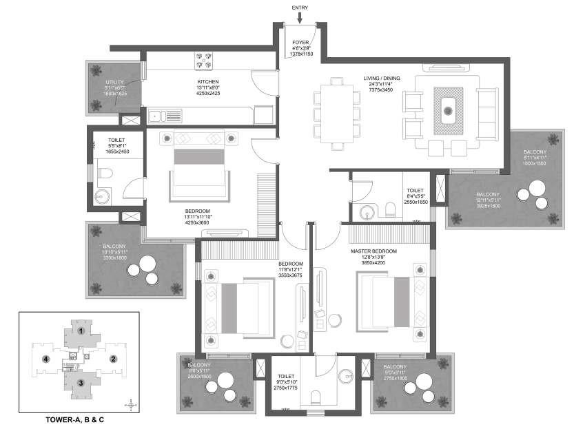 Godrej Aria Floor Plan