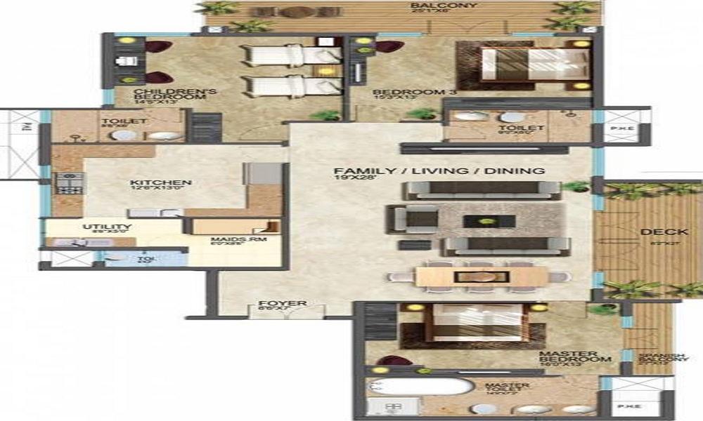 Prestige Leela Residencies Floor Plan