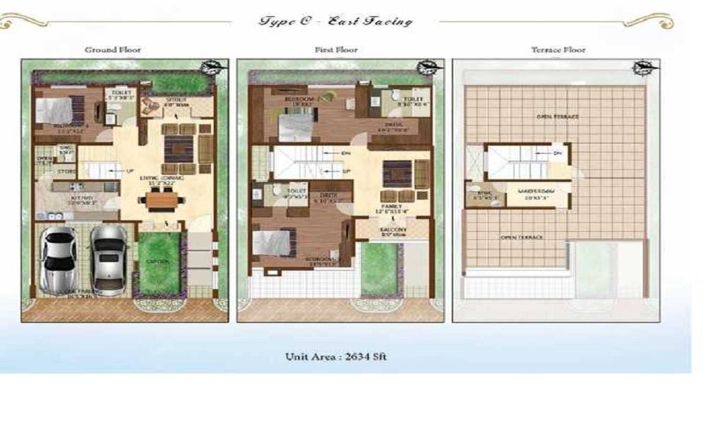 Prestige WoodSide Floor Plan