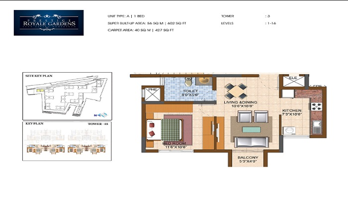 Prestige Royal Gardens Floor Plan