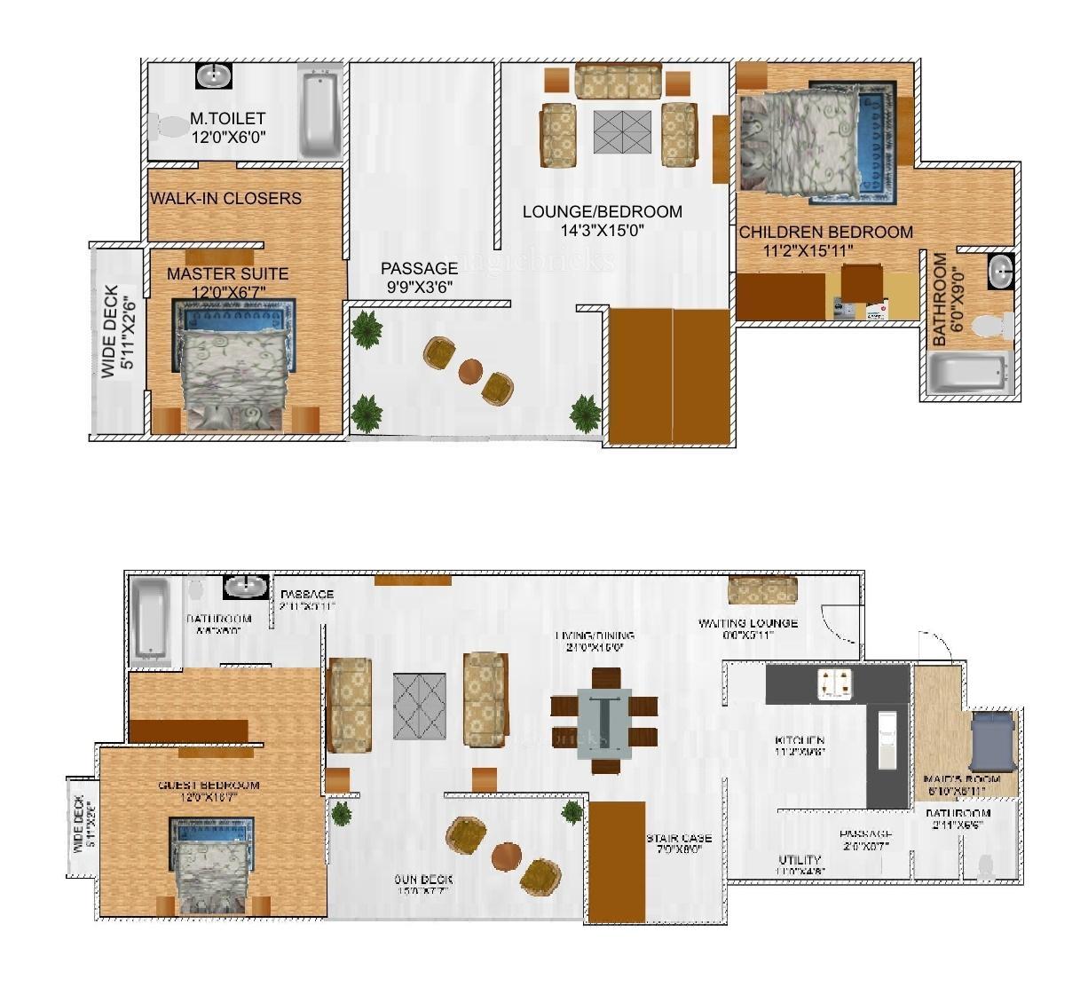 Gera Trinity Towers Floor Plan
