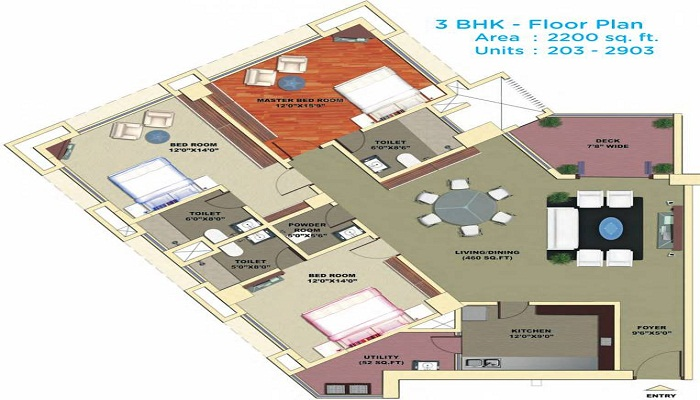 Mantri DSK Pinnacle Floor Plan