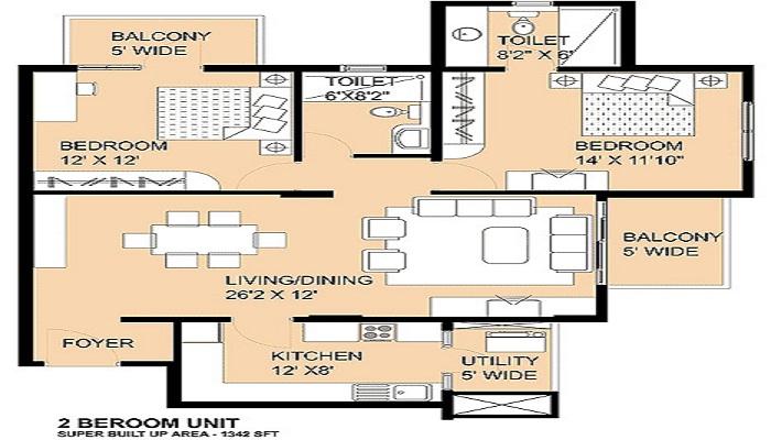 Salarpuria Serenity Floor Plan
