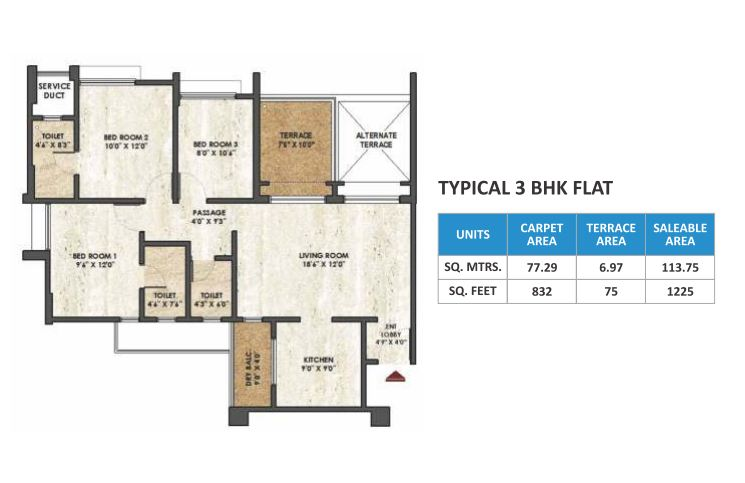 Rama Melange Residence Floor Plan