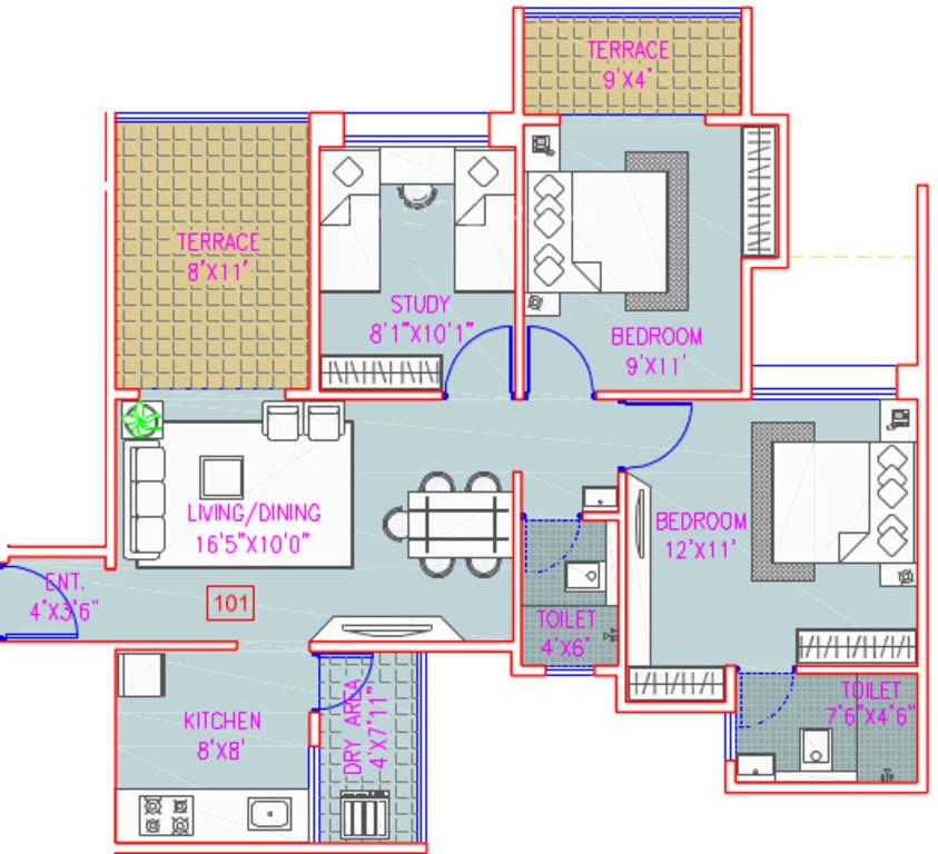Majestique City Floor Plan