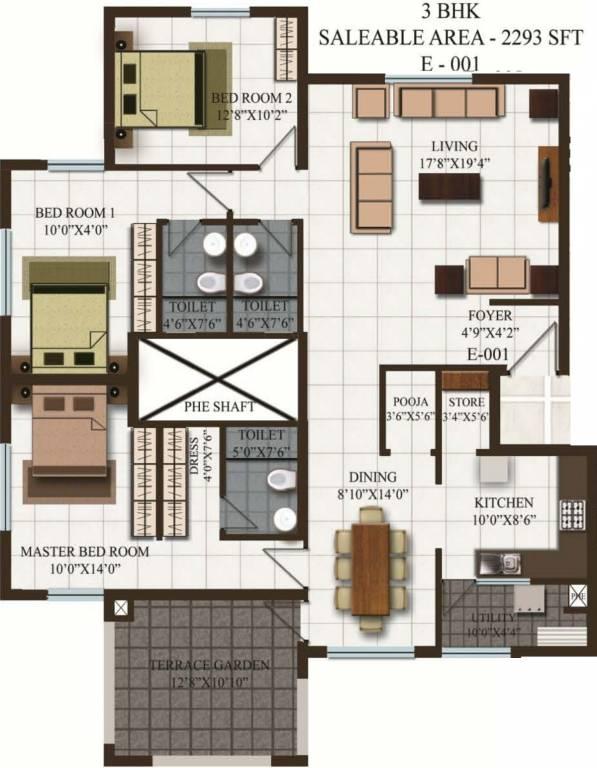 Puravankara Purva Silver Sands Floor Plan