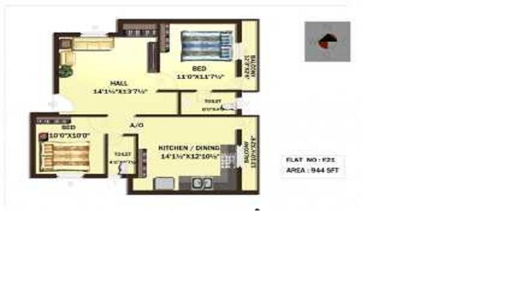 Rajeswari IBIS Fields Floor Plan