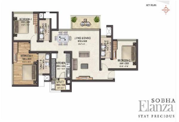 Sobha Elanza Floor Plan