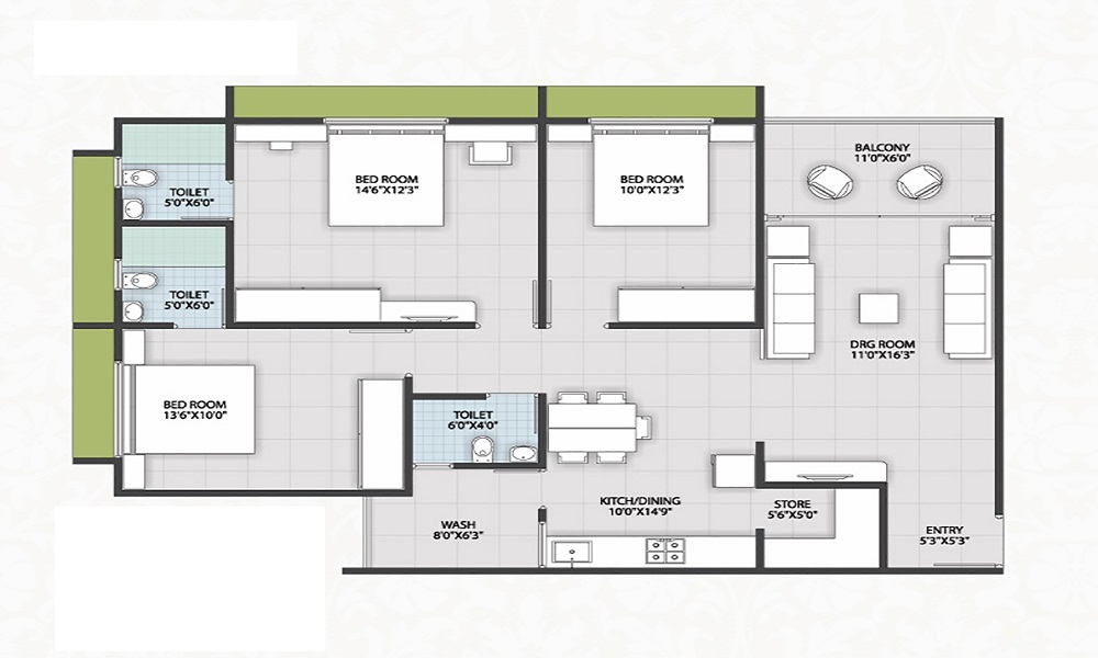 Mantri Breeze Floor Plan