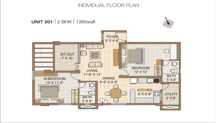 Nester Raga Floor Plan