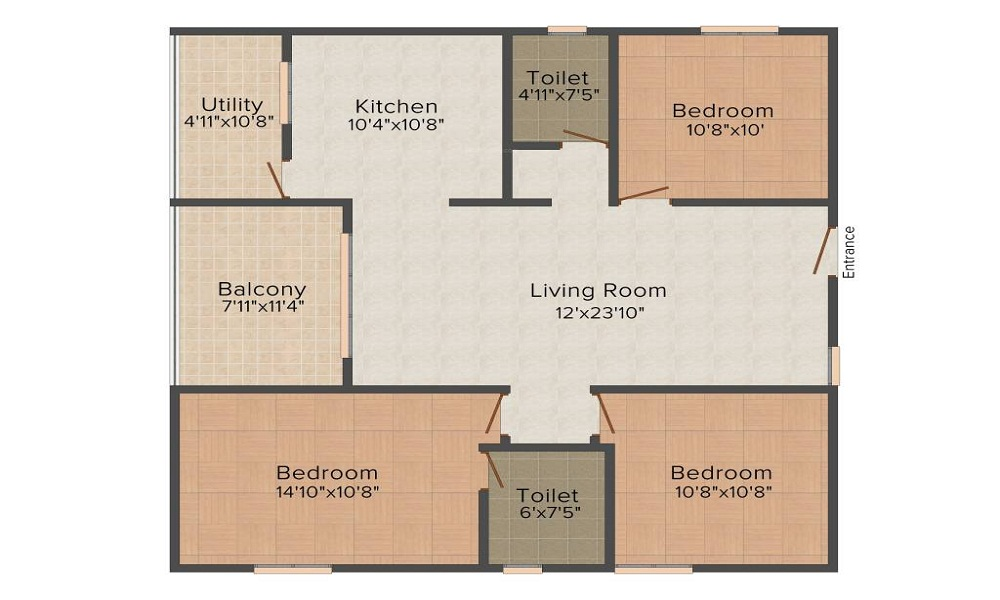 Landmark Pearl Chalet Floor Plan