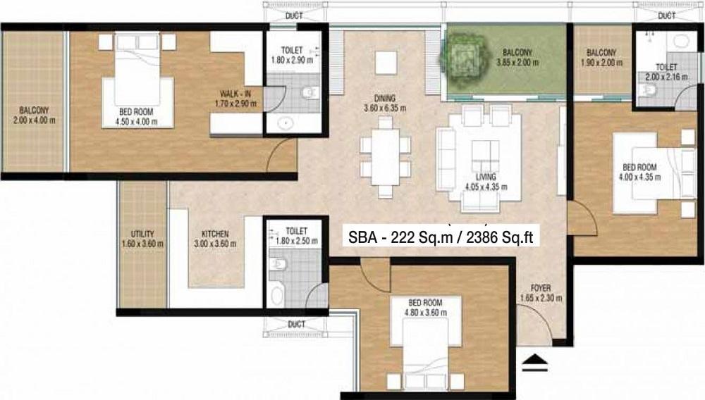 Sobha Carnation Floor Plan