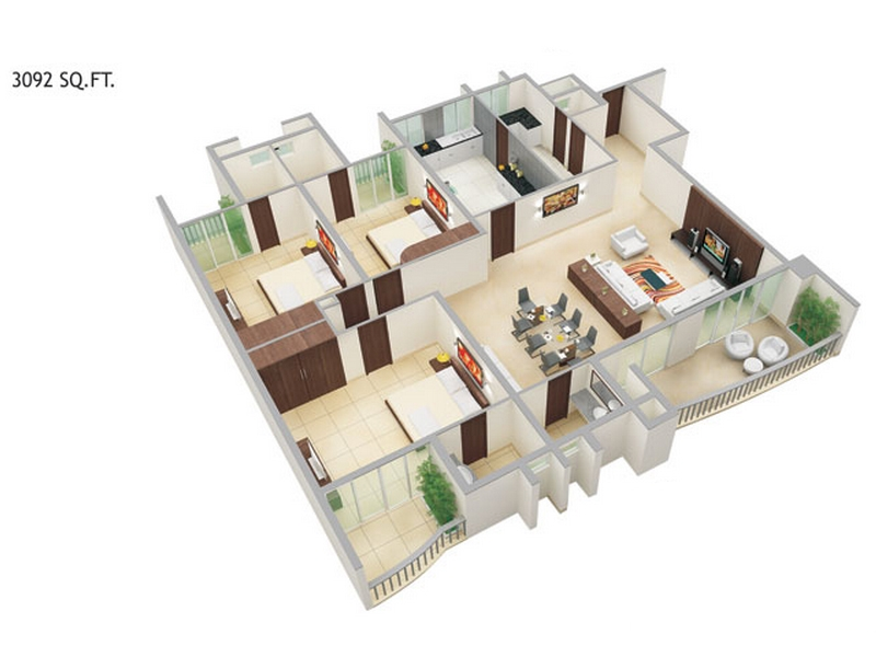 Mantri Altius Floor Plan