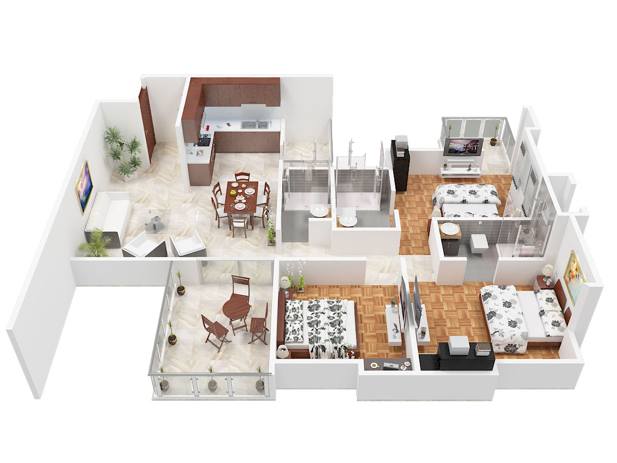 Salarpuria Cambridge Residency Floor Plan
