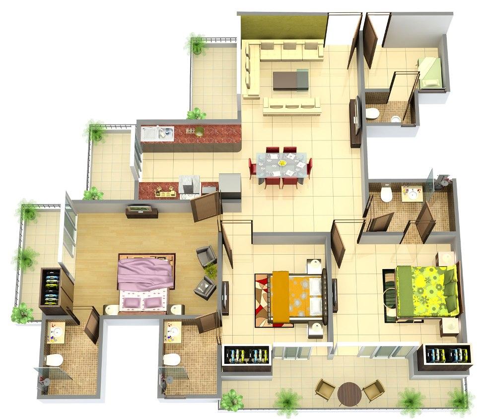 Puravankara Purva Carnation Floor Plan