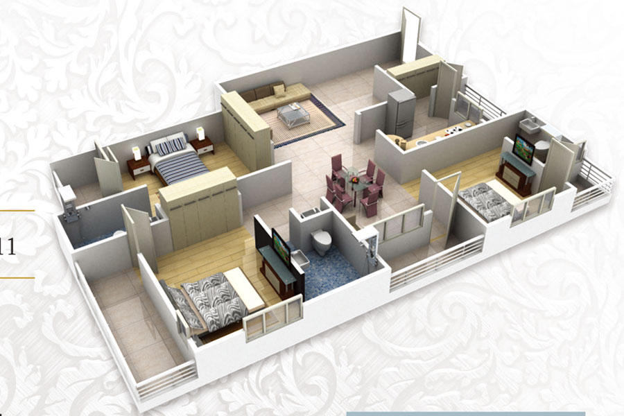 Vaswani Whispering Palms Floor Plan