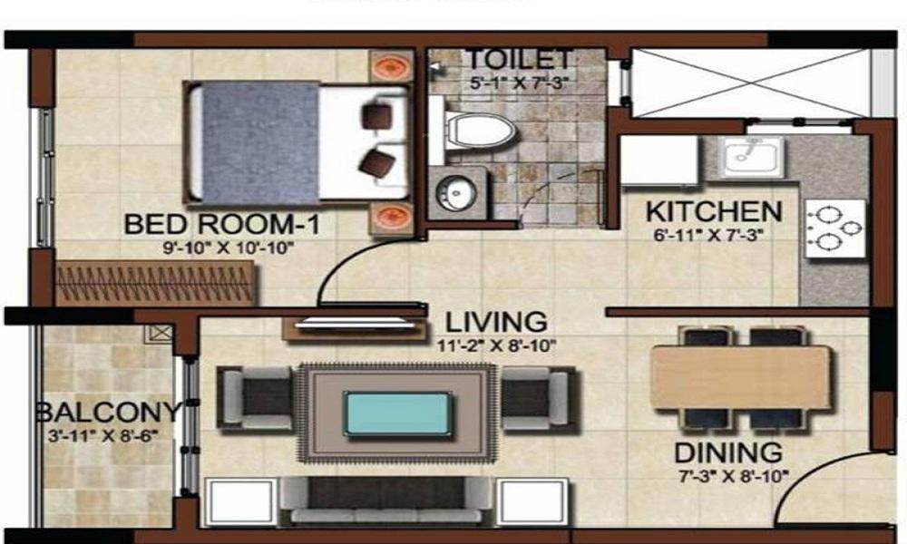 Salarpuria Sattva East Crest Floor Plan