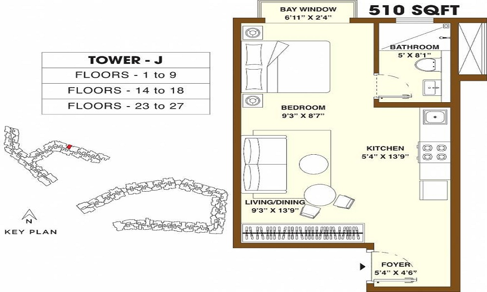 Bhartiya Nikoo Homes Phase 2 Floor Plan