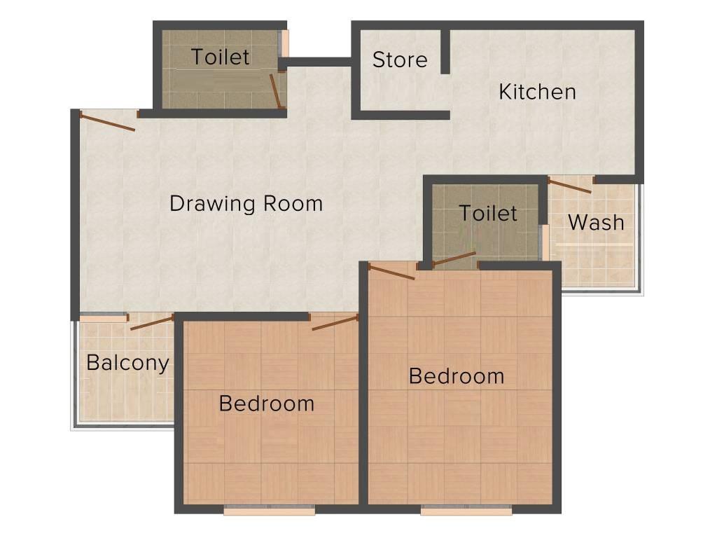 Mahagun Moderne Floor Plan