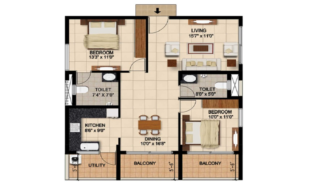 Aashrayaa Citadel Floor Plan