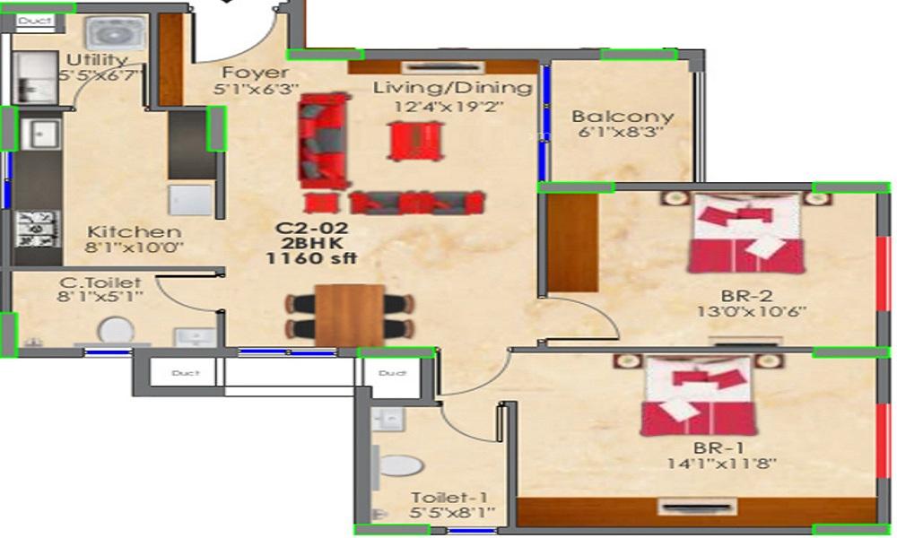 SNN Raj GreenBay Floor Plan
