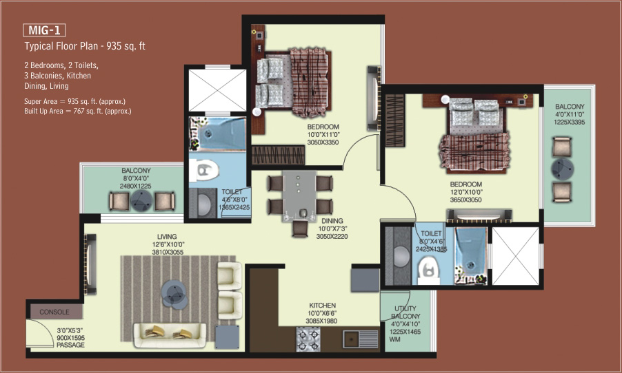 Mahagun My Woods Phase I Floor Plan