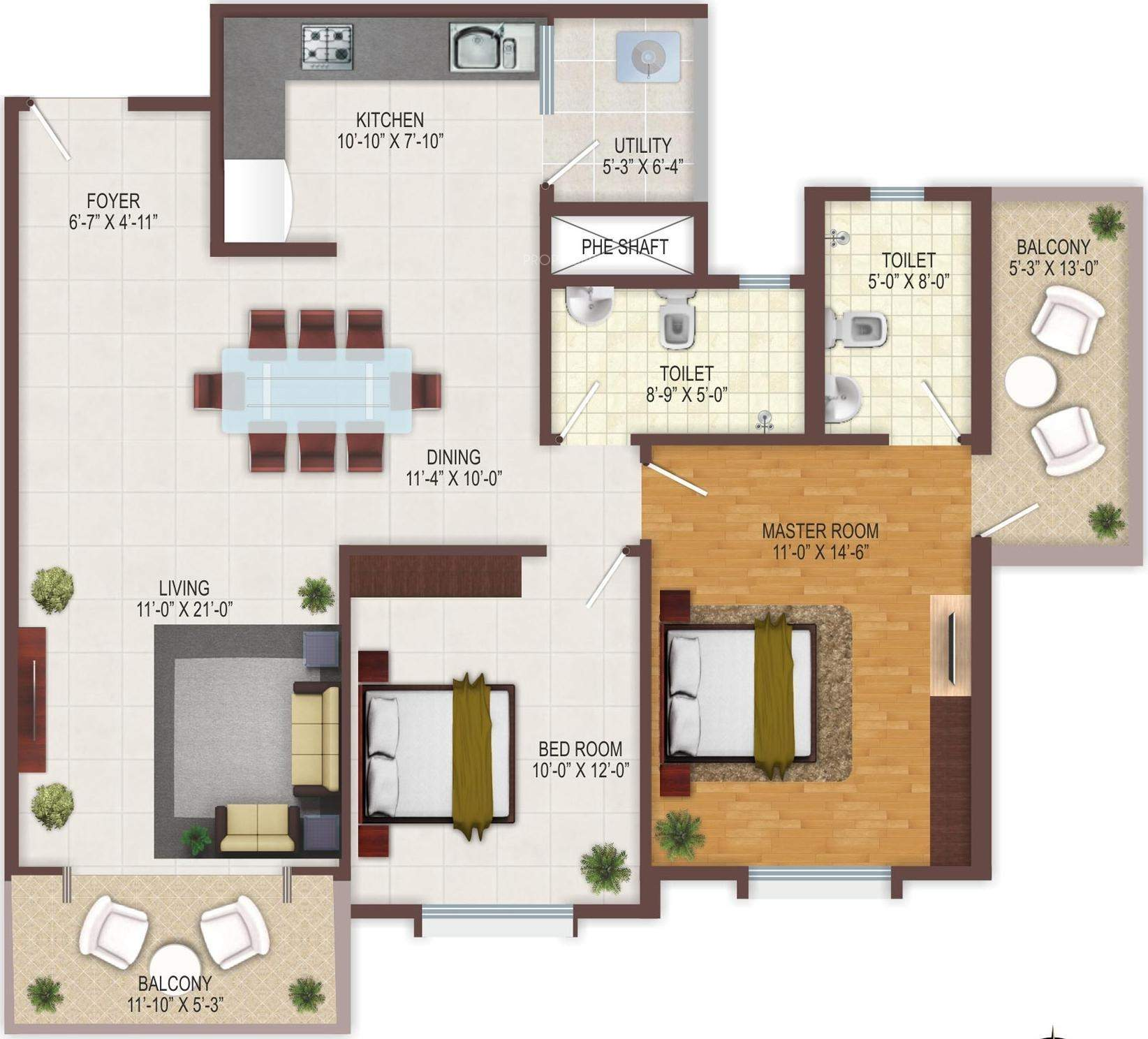 Rangashree Pearl Floor Plan
