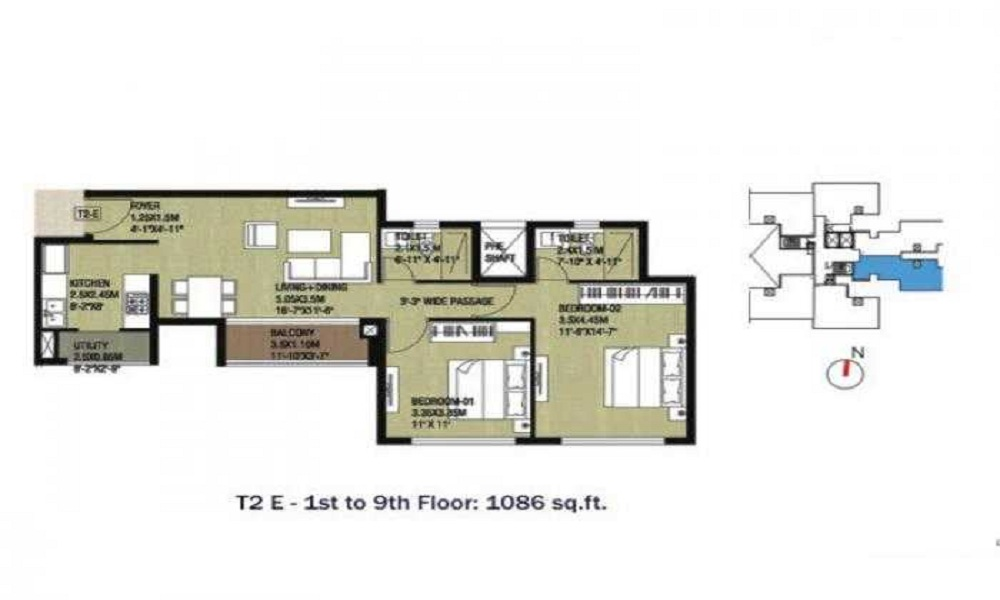 Unishire The Weave Floor Plan