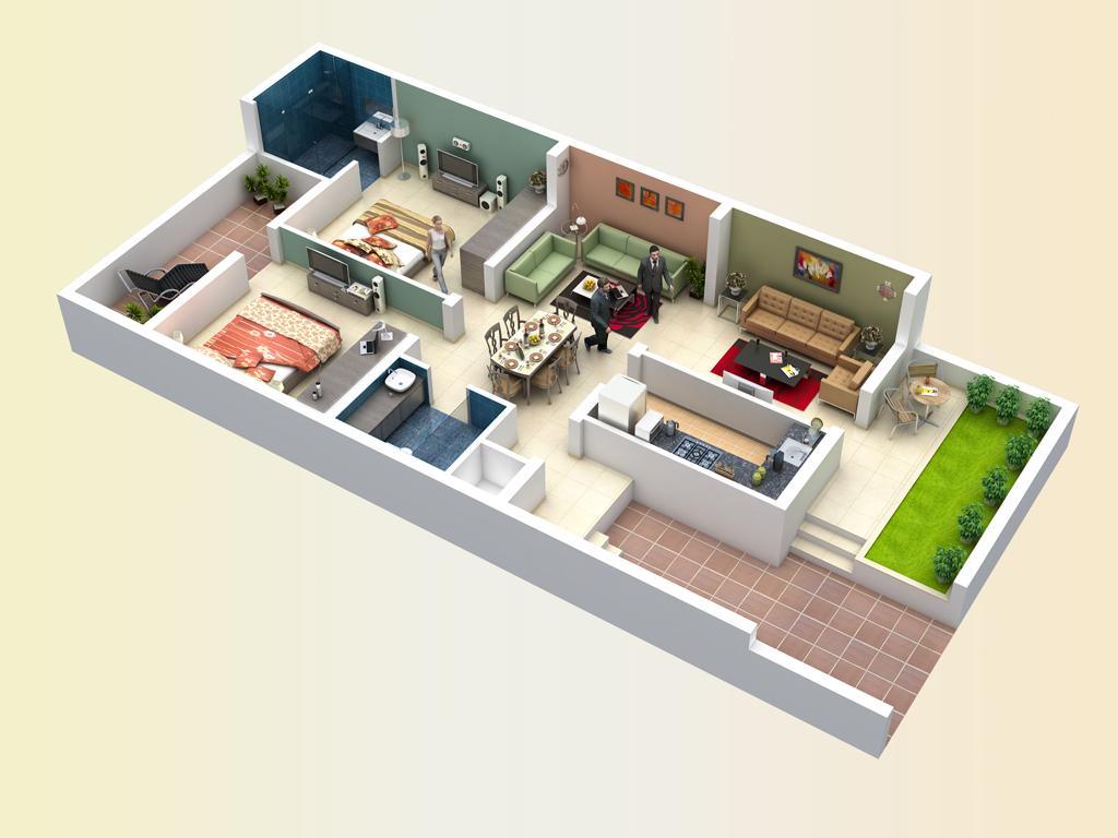 Daya M K Santara Magan Place Phase II Floor Plan